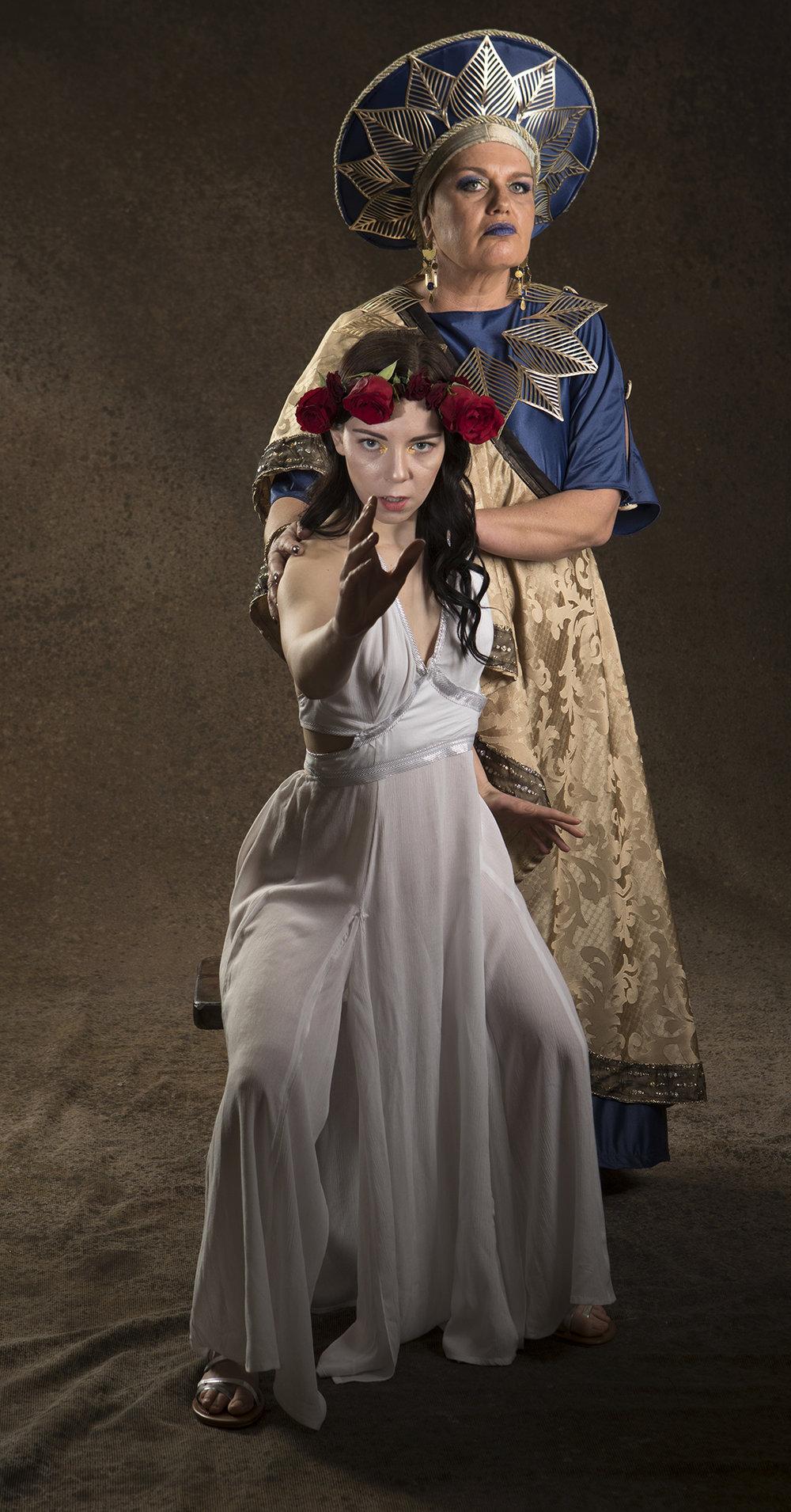 Sarah Macmillan (Herodias)and Gabrielle De Brequet (Salomé). Photo by Tim Fuller.