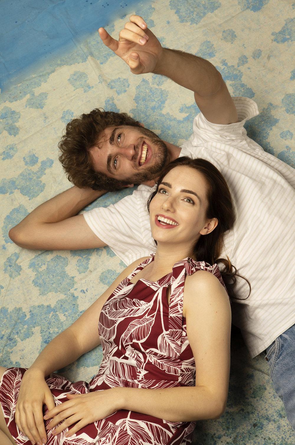 Adam Denoyer (Orpheus) and Kathleen Cannon (Eurydice).  Photo by Tim Fuller.