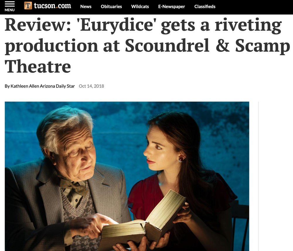 Eurydice gets a riveting production at Scoundrel & Scamp Theatre   Arizona Daily Star