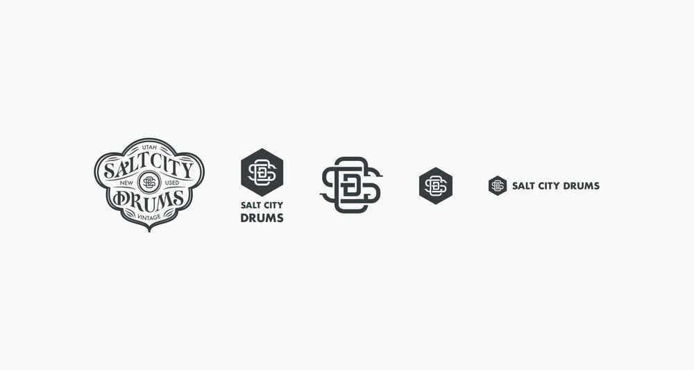 Design-by-diamond - Salt-city-drums - Logo scale