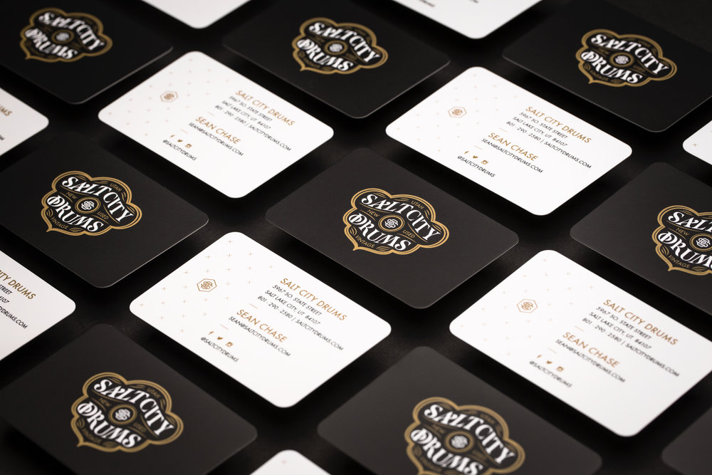 Design-by-diamond - Salt-city-drums - Business Cards
