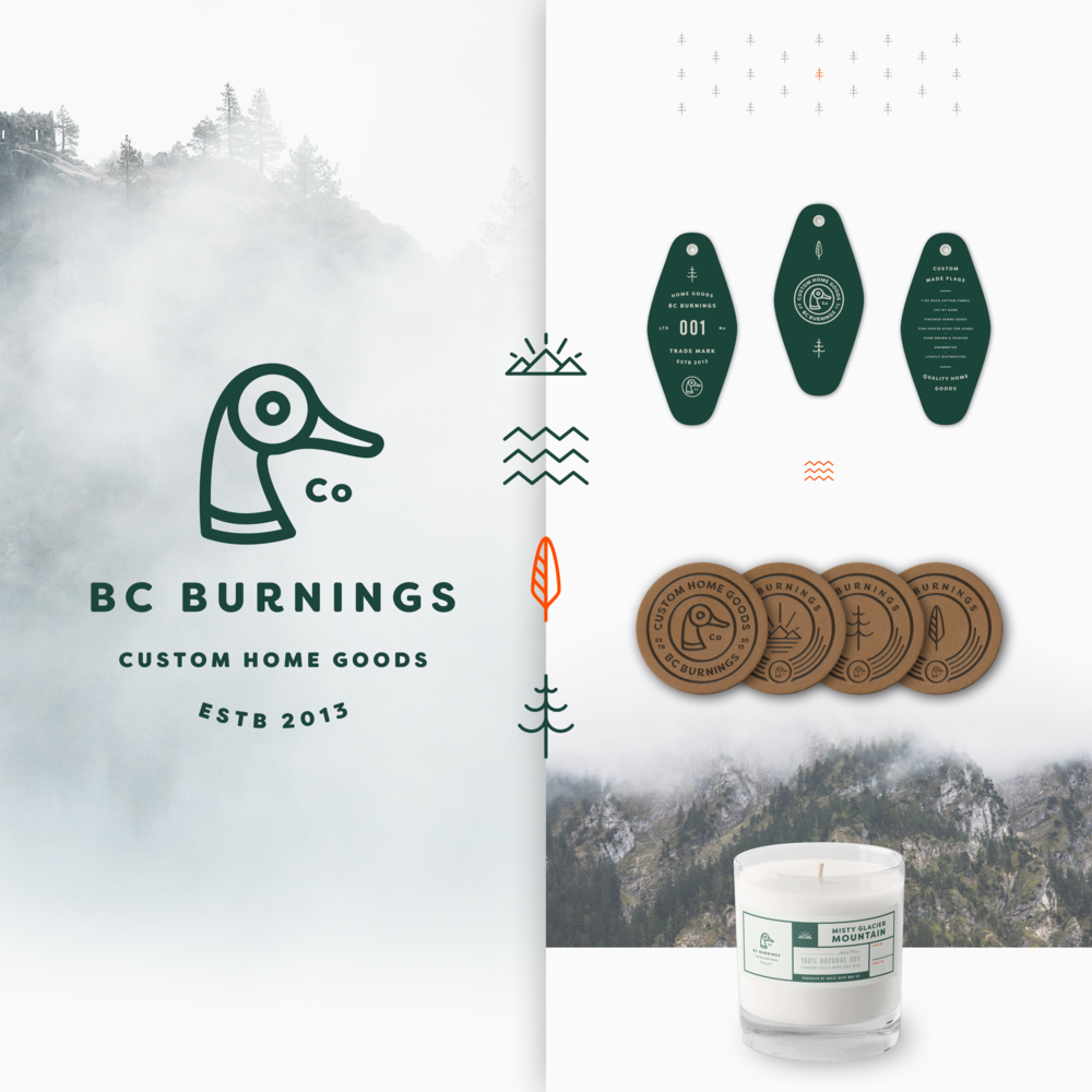 —BC BURNINGS - BRAND IDENTITY / PRINT DESIGN