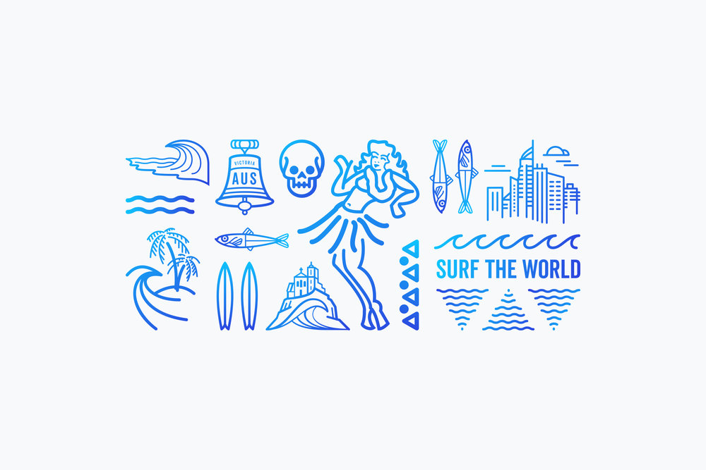 Design_By_Diamond - Surf the world - Illustration