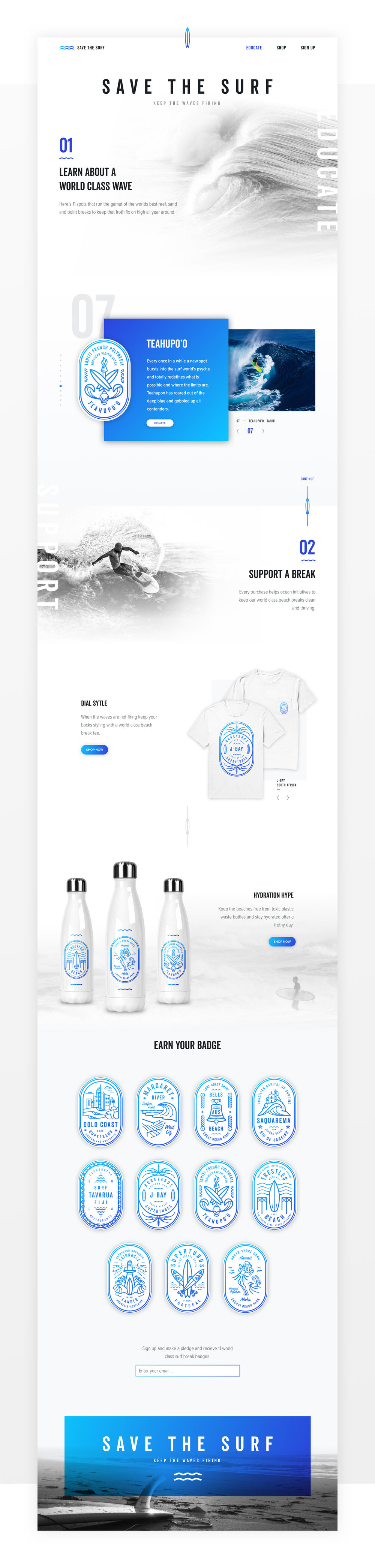 Design_by_Diamond - Save the surf - Webdesign