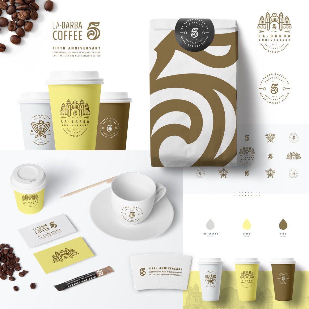 —LA BARBA 5 YEAR - BRANDING / ILLUSTRATION / MARKETING