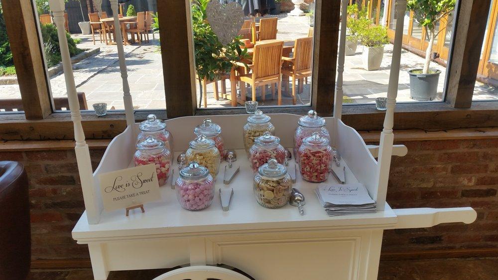 Swancar Wedding, Candy Cart Nottingham