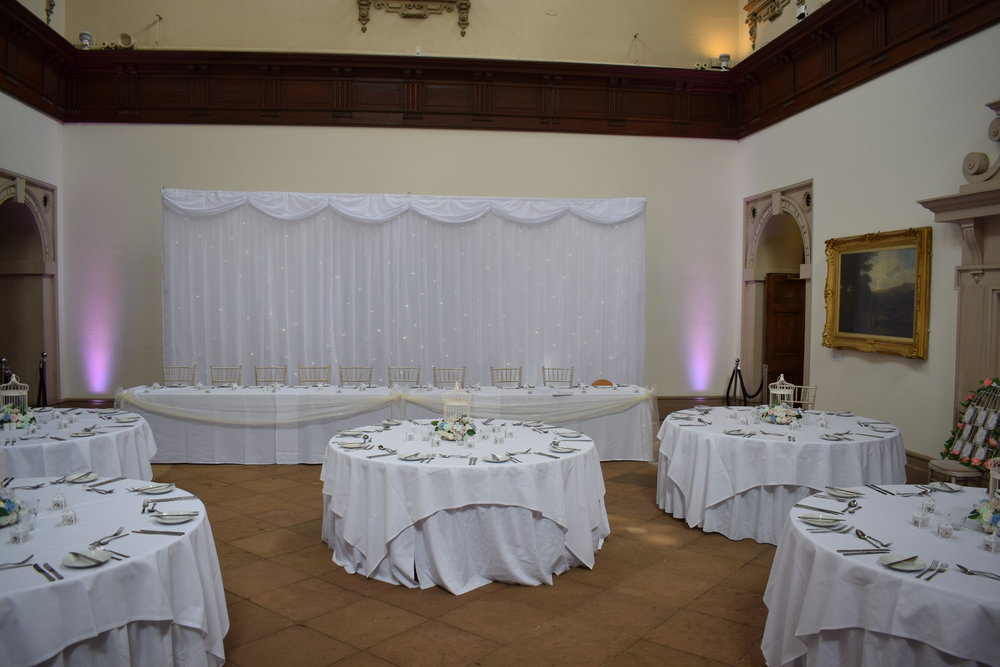 Wedding Decoration Packages Nottingham, Derby, East Midlands.