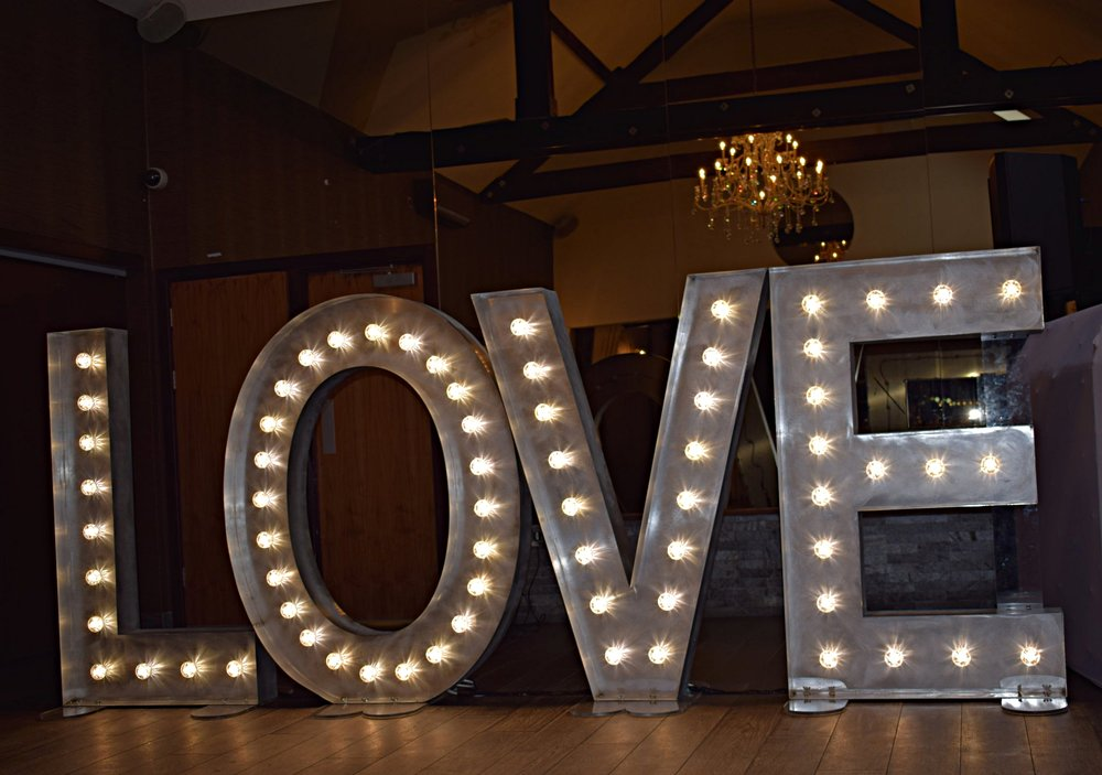 Goosedale Light Up LOVE Letters Papplewick, Nottingham
