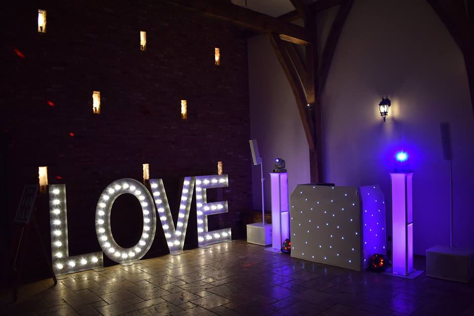 LOVE Letters and DJ Hire Swancar Farm Nottingham