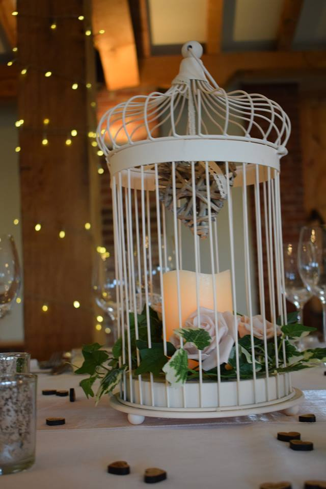 Rustic Birdcage Centrepiece Hire Nottingham, Derby, and the East Midlands.