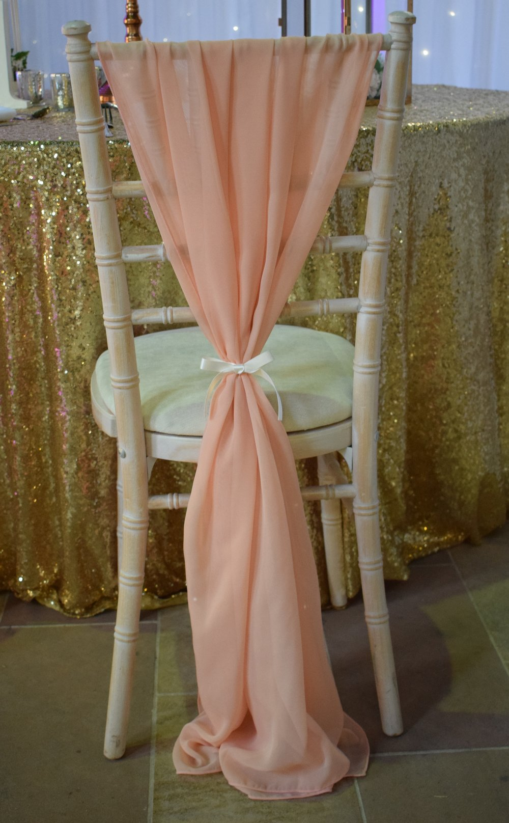 Chiffon Drape/ Drop Sash Hire Nottingham