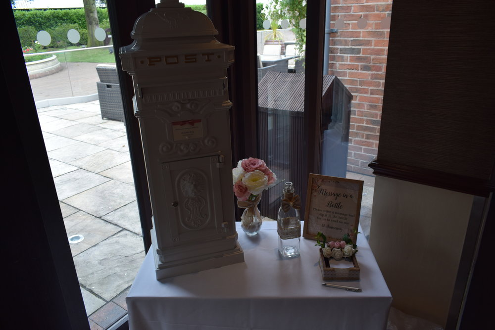 Vintage Victorian Wedding Post Box Hire Nottingham, Derby, Mansfield Leicester