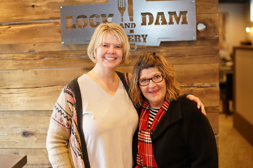 Mayor candidate  Mary Fasbender  visits Lock And Dam Eatery.