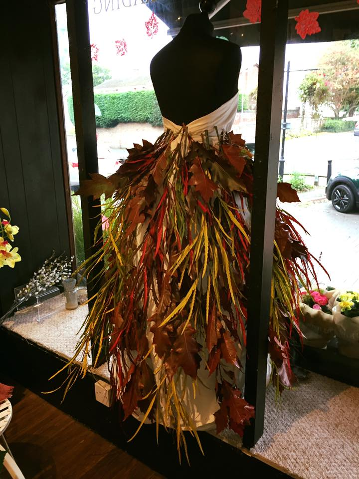 Autumn Leaves Dress Back in Shop Window