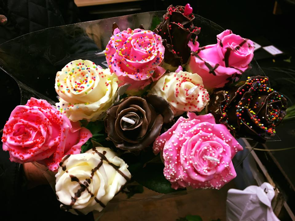 Seven Chocolate Roses
