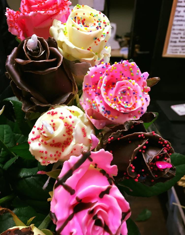 Five Chocolate Roses