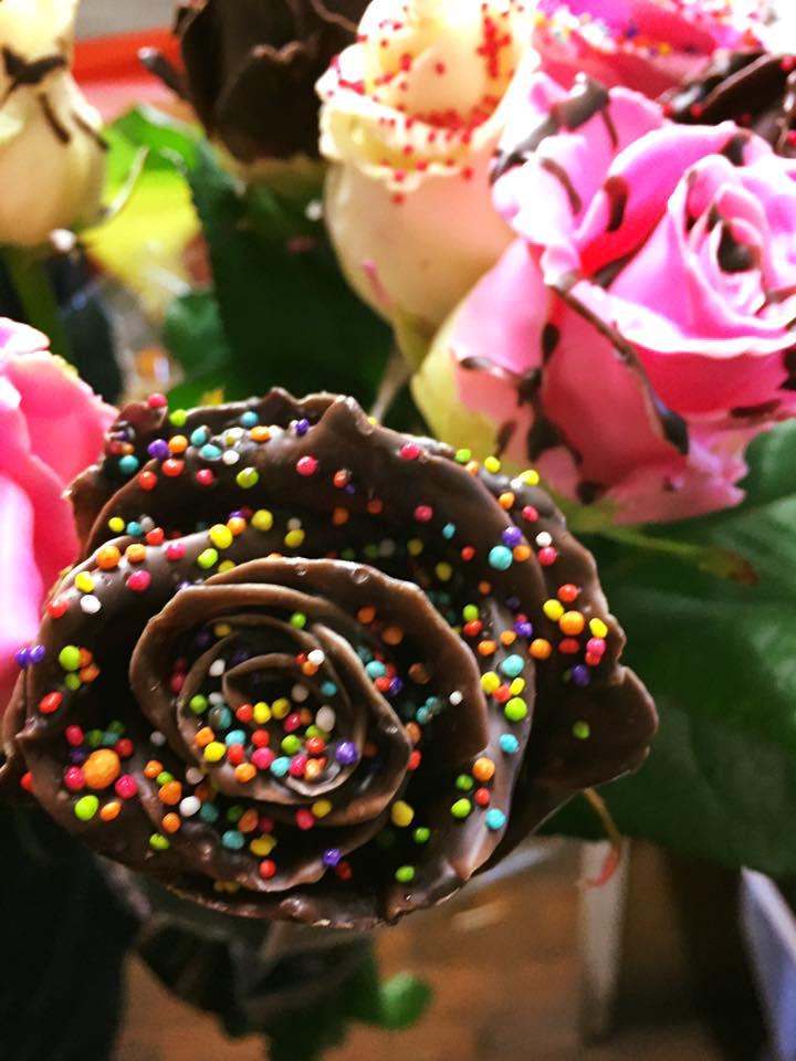 Close-up Chocolate Roses