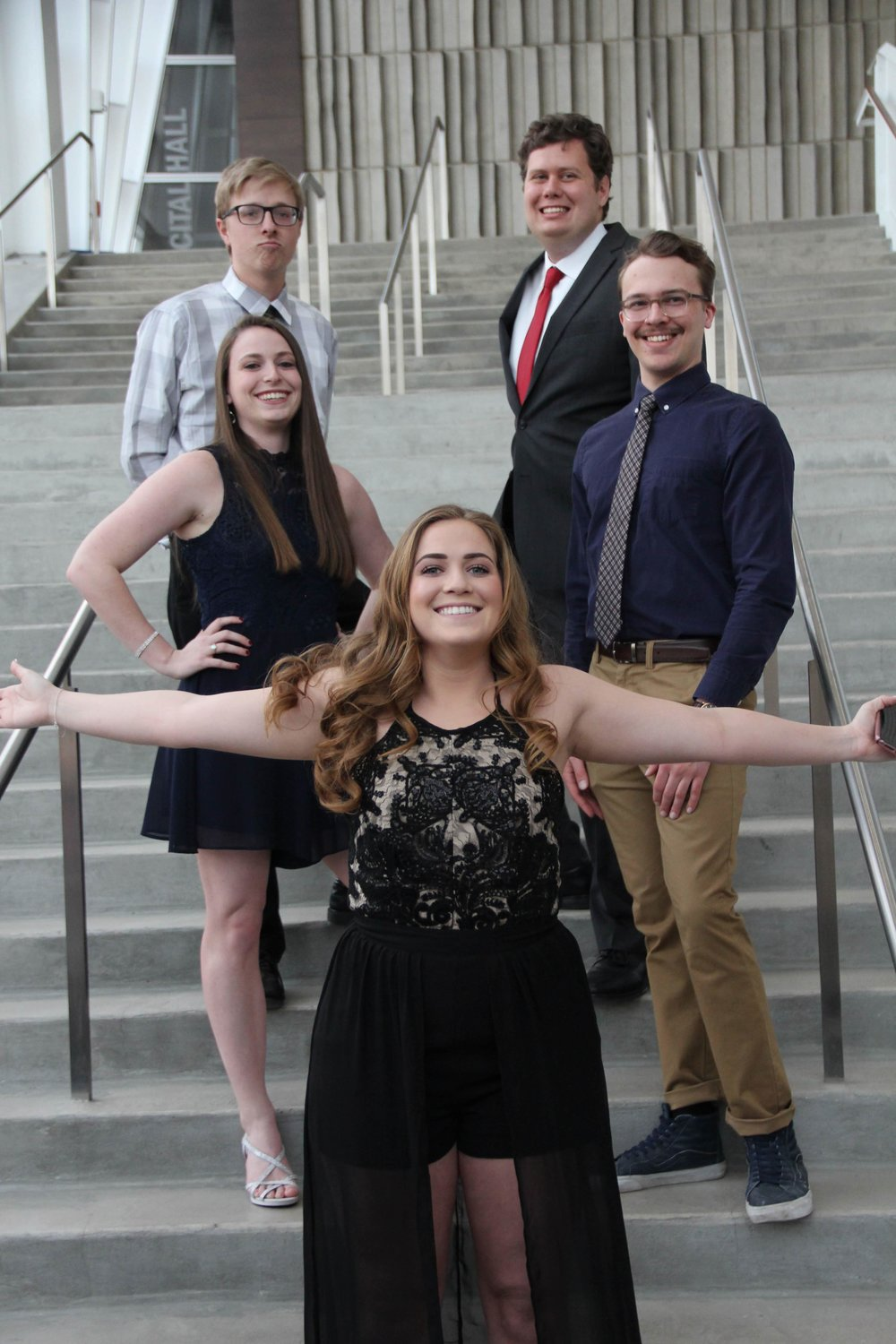 Our Current and Past Master Alchemists - From left to right: Neal Patrick, Gabby Duncan, Ellyse Henkle, Jacob Locher, and Will Thomson