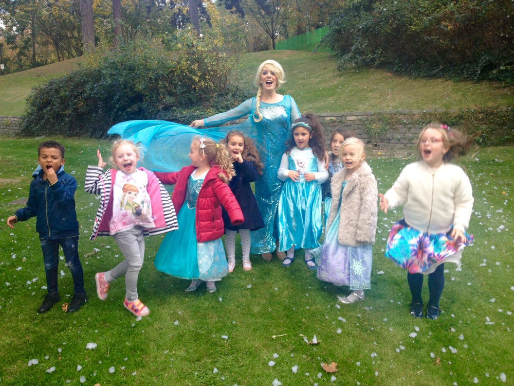 A Frozen Themed Birthday Party