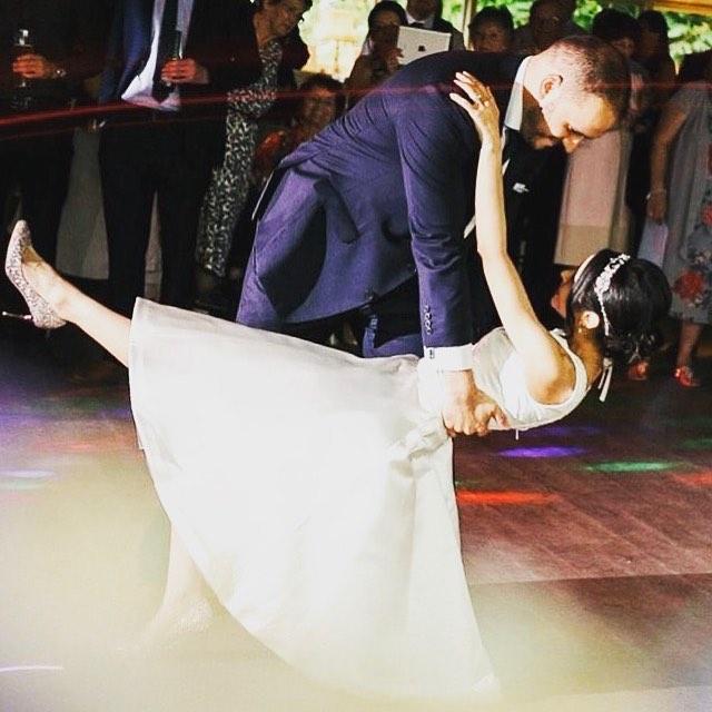 Today we are thankful for health, happiness & love #husbandandwife #weddingdaythrowback
