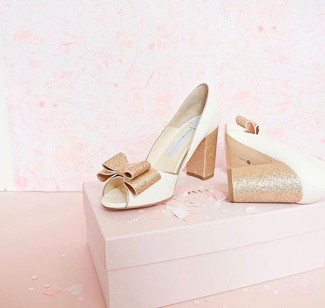 Weekly Wedding Inspo... add a touch of sparkle. Image from @charlottemillsshoes #weddingshoes #sparkleandshine