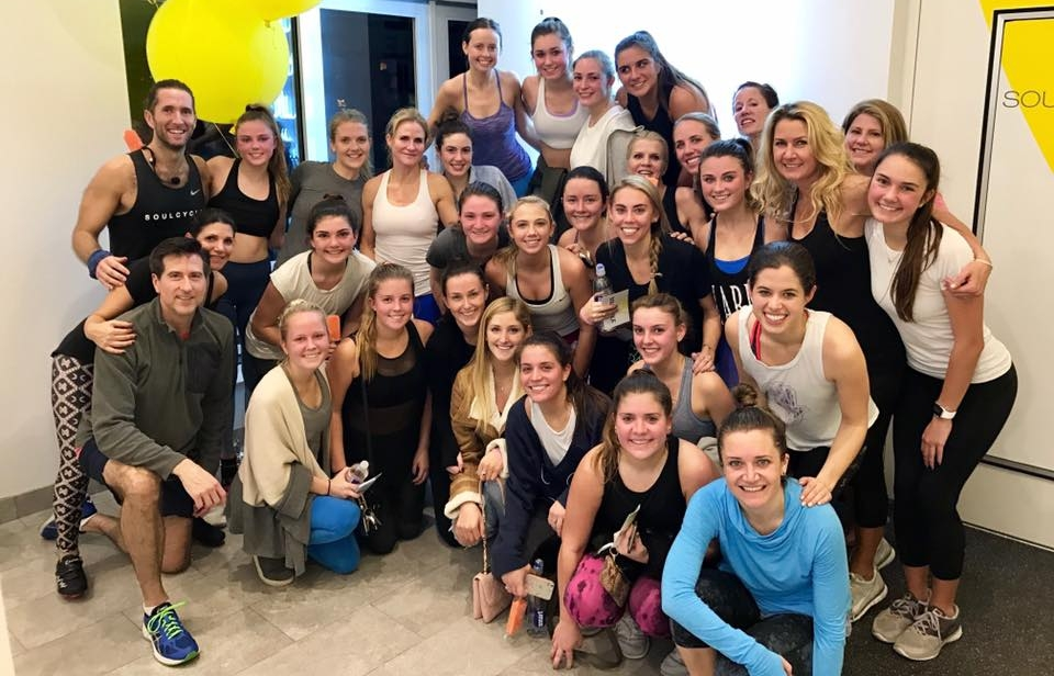 December 2016 Soul Cycle ride benefitting The Grace Loncar Foundation.