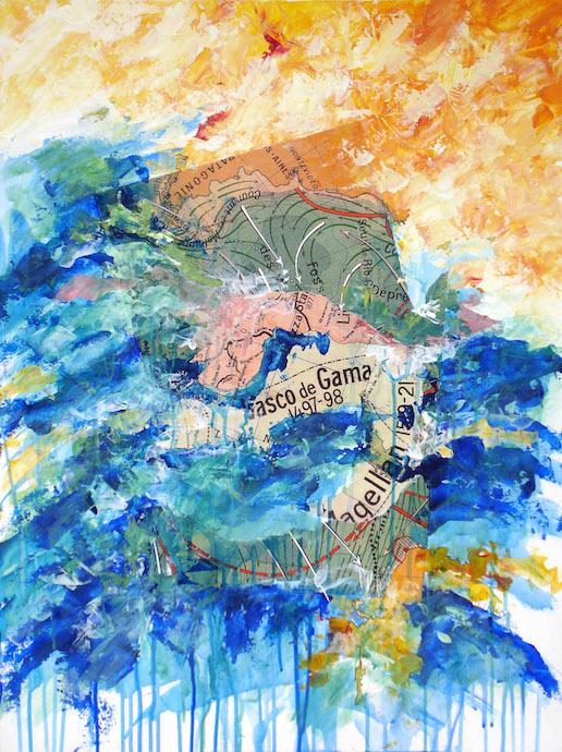 Vasco de Gama ou la grande dépression du sud    Acrylique sur toile  – 80 x 60 cm