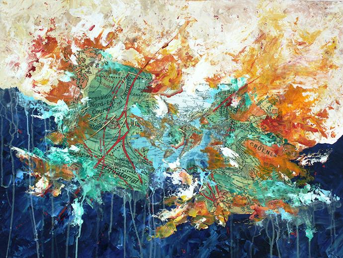 Dépression du nord-est    Acrylique sur toile  – 60 x 80 cm