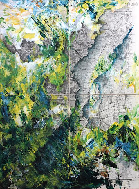 Forêt de l'Ange Rein (Colmar) Acrylique sur carte originale marouflée – 58 x 43 cm