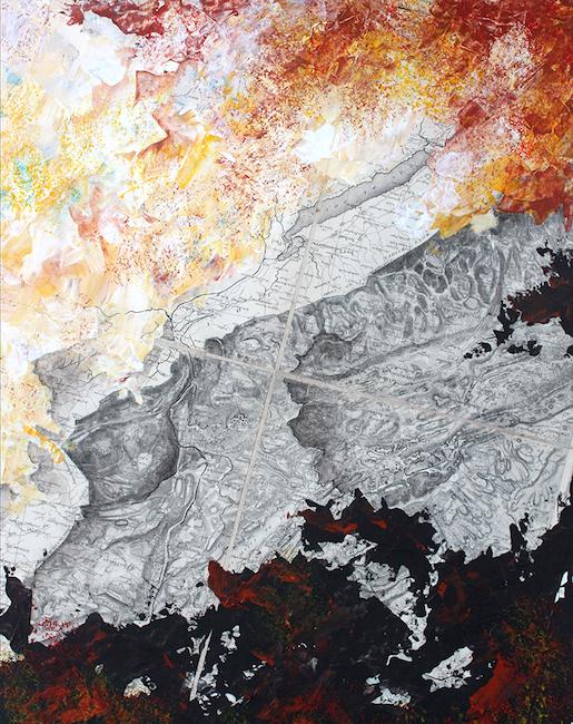La Grande Combe (Pontarlier) Acrylique sur carte originale marouflée – 50 x 40 cm