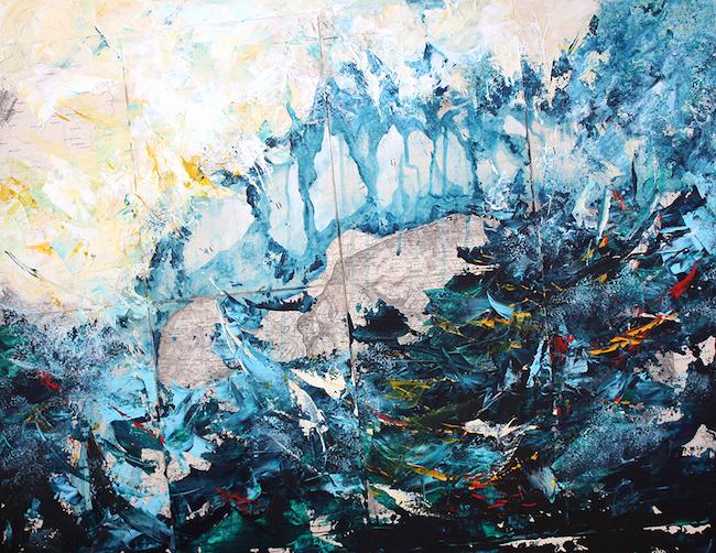 Les Arpes du Lac Noir (Thonon) Acrylique sur carte originale marouflée – 60 x 80 cm