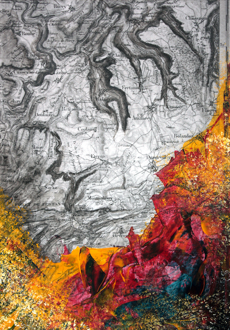 Bois des serpents    Peinture acrylique sur tirage numérique  – 30 x 20 cm
