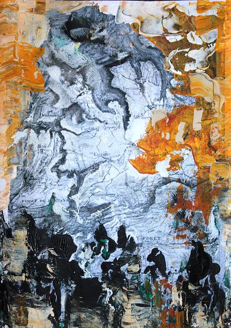 L'attente 1 Peinture acrylique sur tirage numérique – 30 x 20 cm
