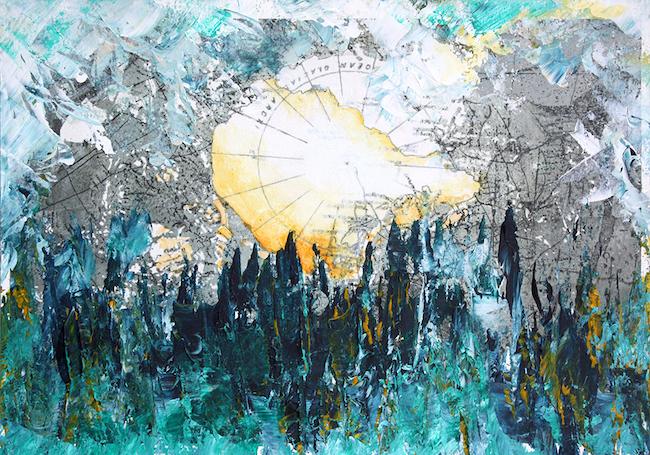 Levant Peinture acrylique sur montage numérique – 20 x 30 cm