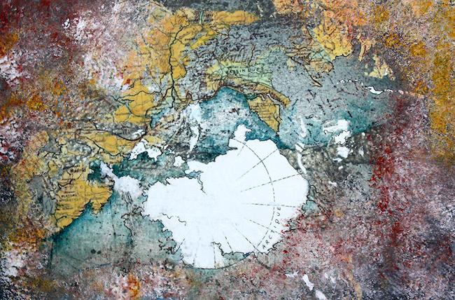 Tectonique Peinture acrylique et montage numérique – 20 x 30 cm