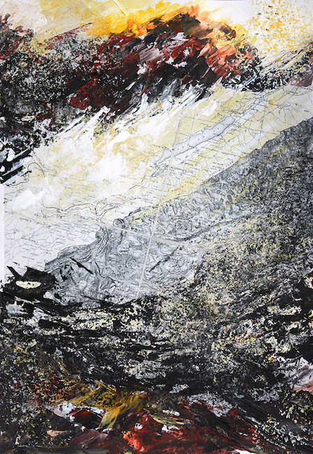 Terre brûlée Peinture acrylique sur tirage numérique – 20 x 30 cm