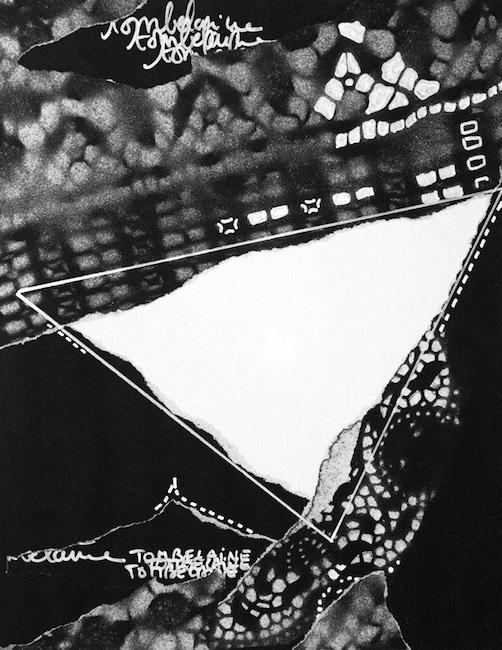 L'infini posera un jour sa patte d'oie Collage et peinture acrylique – 32 x 24 cm