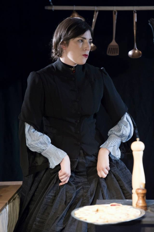 As Mrs.Liddell/Queen of Hearts in Alice, The Space on Northbridge 2014. Photo Paul Seaby