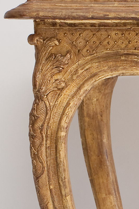 Water Gilding on Table Leg