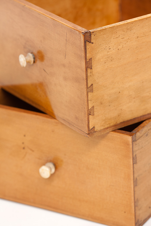 Period miniature hand cut dovetails