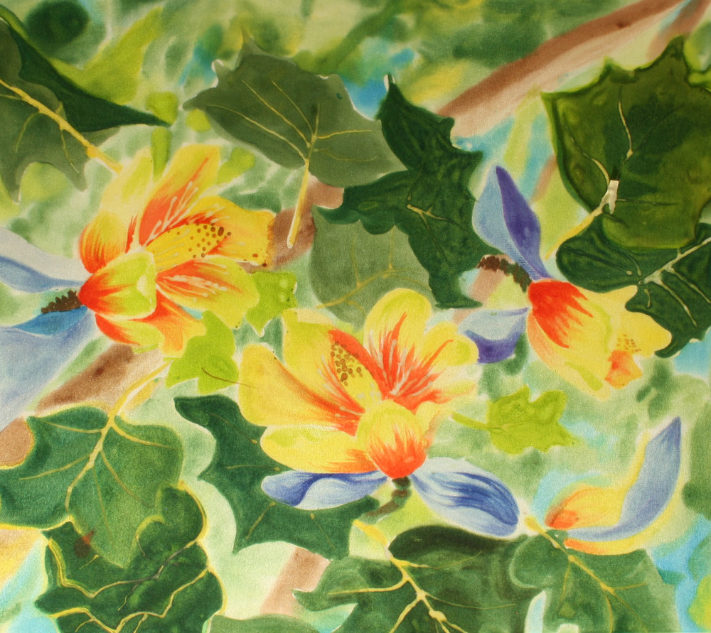 YELLOW POPLAR         16x14       $150.00   French Dyes on Silk                                        BUY NOW