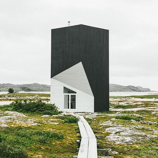 How about this artist studio built on Fogo Island, Canada! I love the contrast between the bold graphic architecture and the beautiful landscape. Tower Studio by Saunders Architecture, Photo: Rich Stapleton