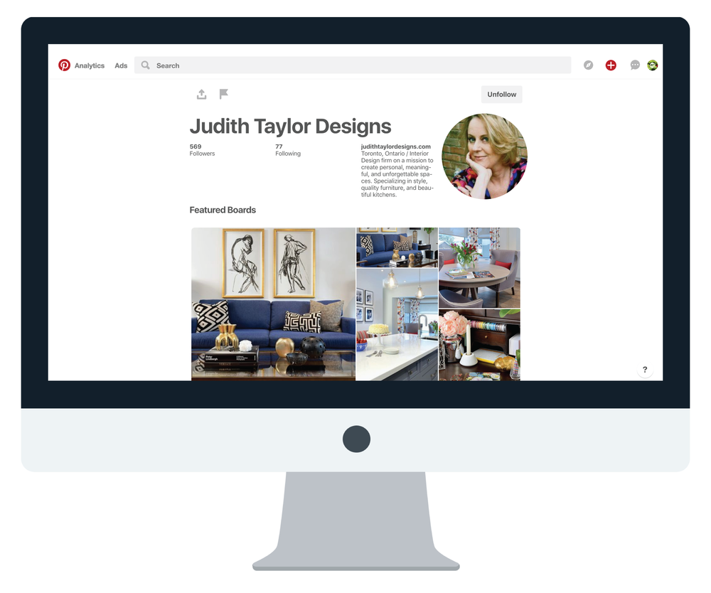 judith taylor designs pinterest strategy marketing custom graphic design pins