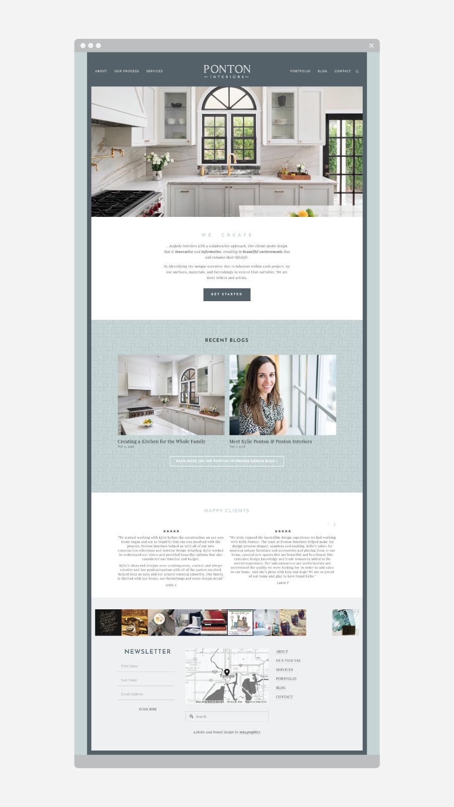 Ponton Interiors Website Launch