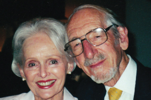 Paul Fitzgerald with his wife of 60 years.