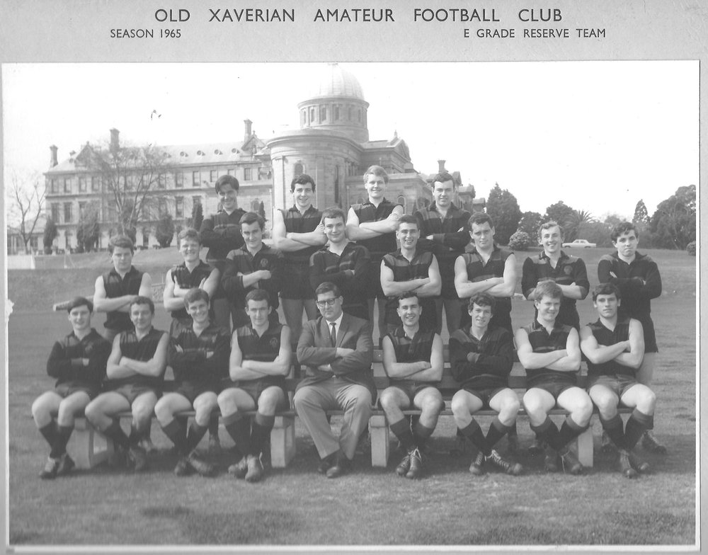Kevin Breheny, second from left in the back row, in the team coached by Bill Seabrook, that featured future Australian government minister Richard Alston (fourth from right, middle row) and founder of the Sydney Institute, author Gerard Henderson (middle row at right).