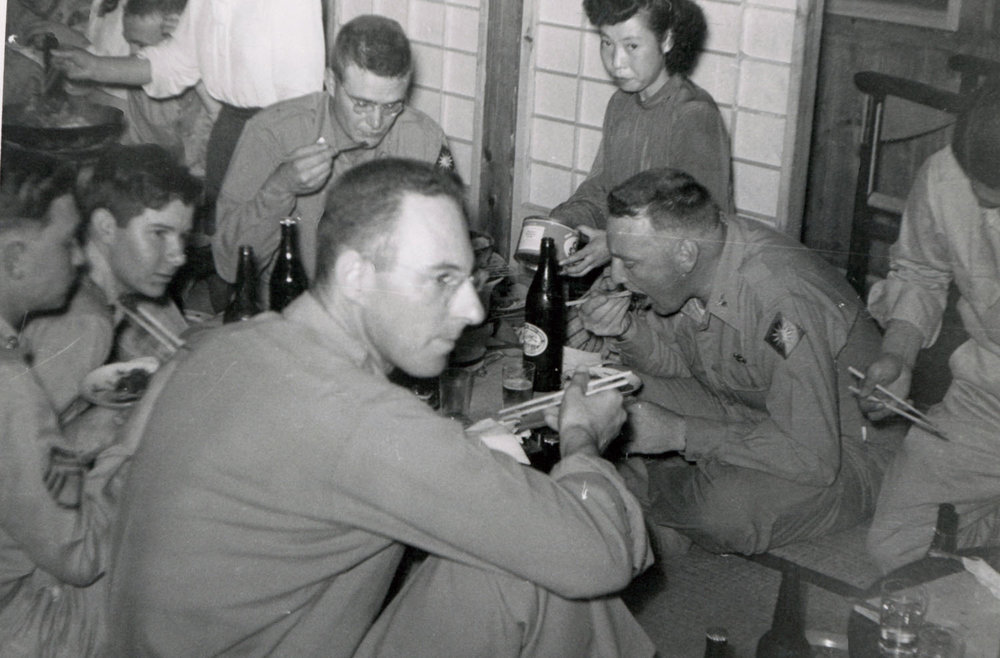 154- George Butler (foreground) at his 40th Birthday Party, September 11, 1951