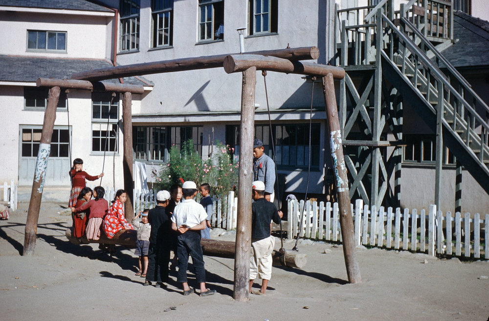 25- School Yard Swing
