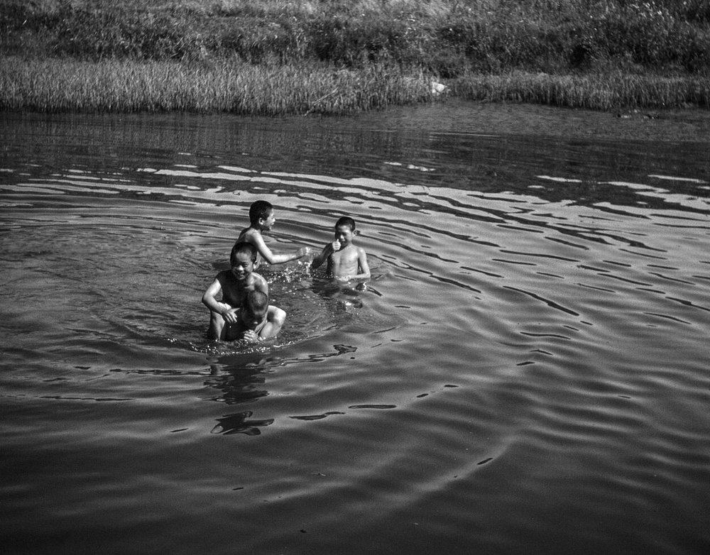 53- Four Boys Swimming in Kitakami Canal
