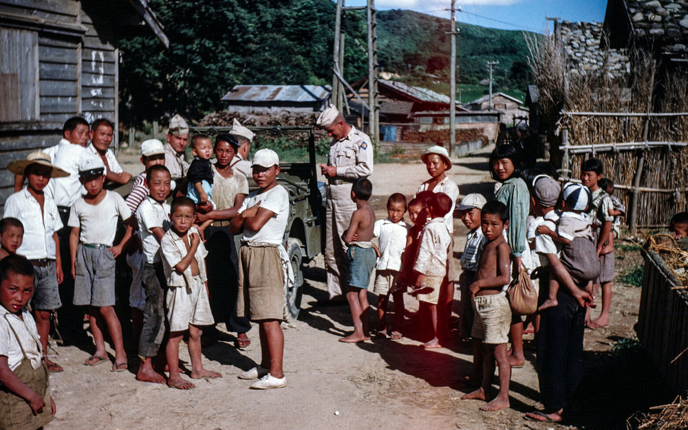 305-Group of Children with American Soldiers